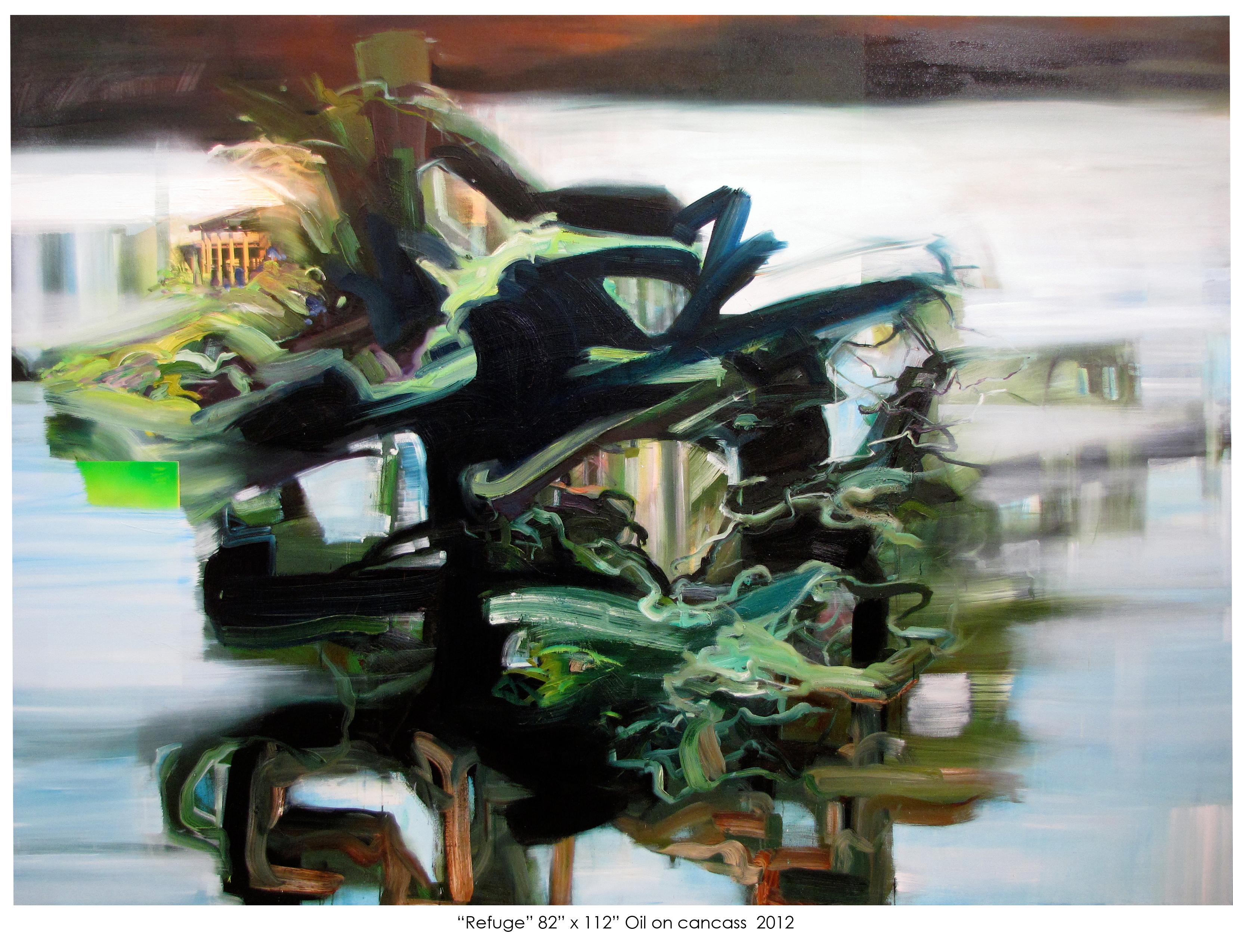 "Refuge 82"" x 112"" Oil on cancass 2012"