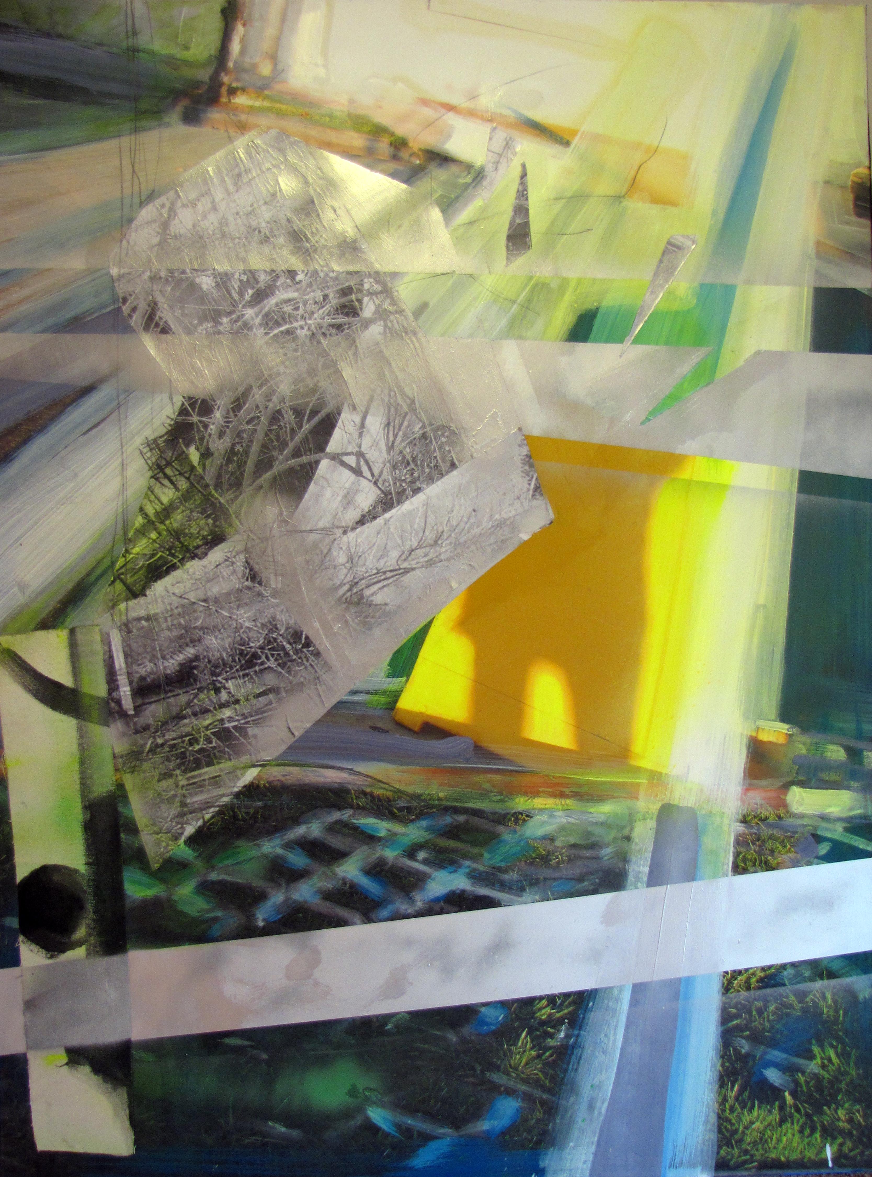 "Self-Portrait in Yellow - 56"" x 36"""