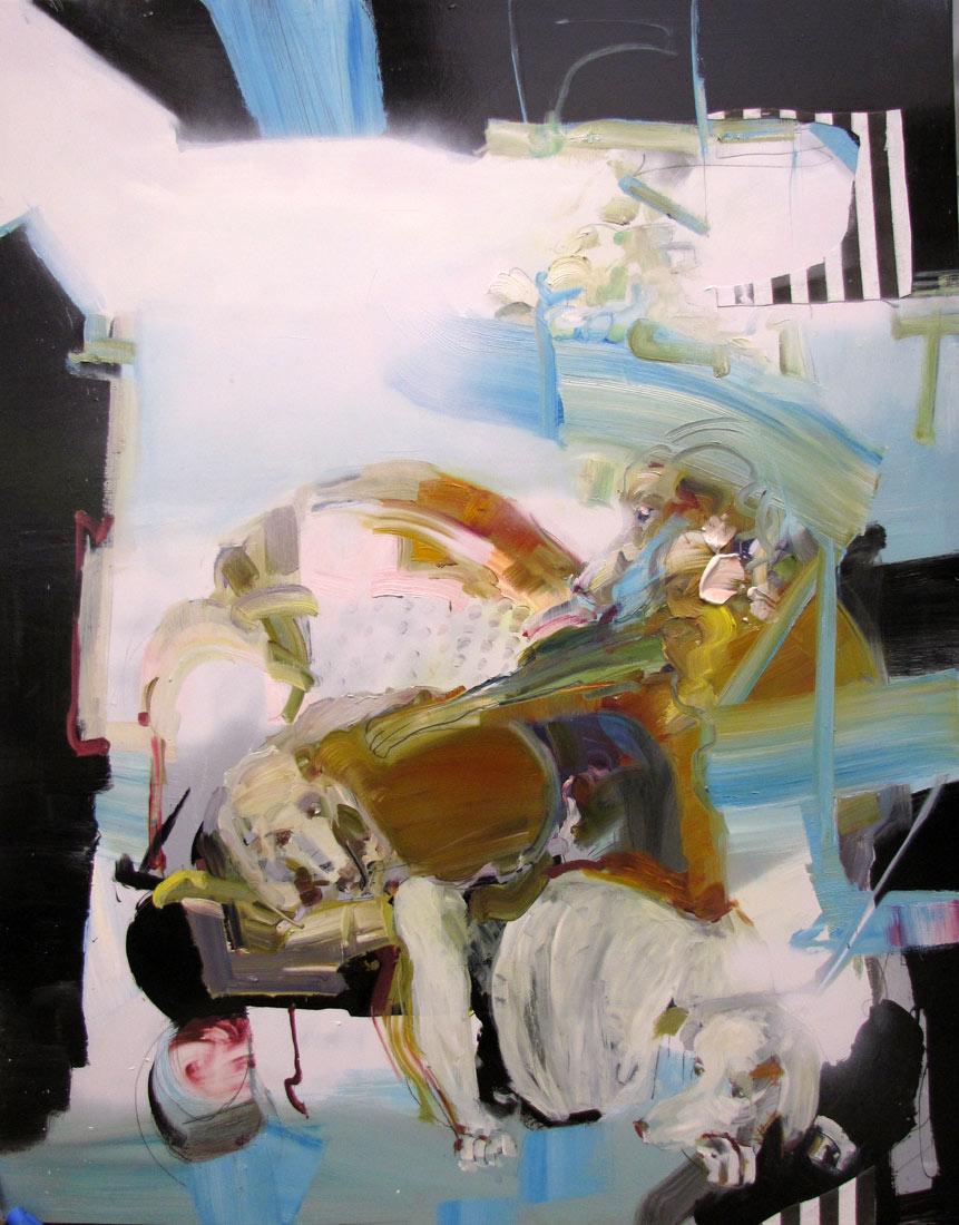 "The Nap - 65"" x 52"" Oil, Acrylic, Graphite on panel 2015"